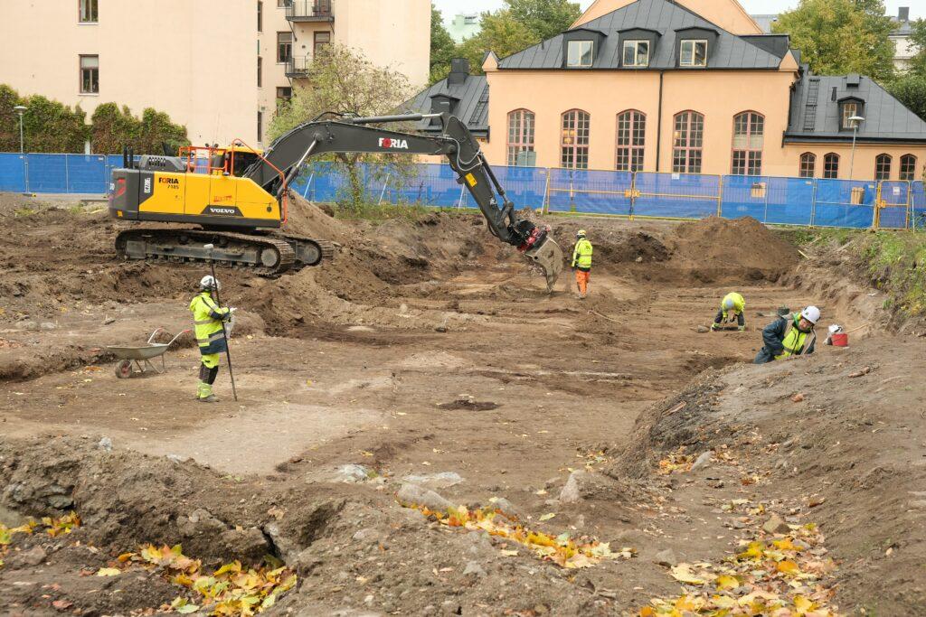 Arkeologisk utgrävning kvarteret Rosenlund